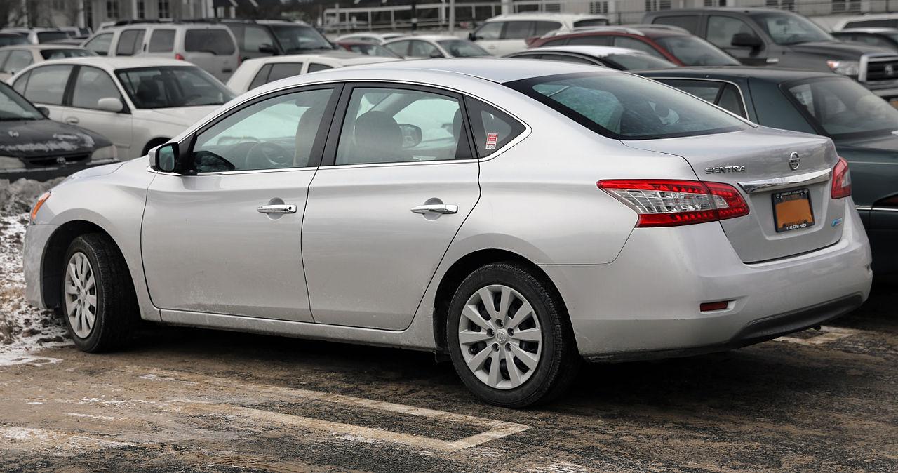 File:2014 Nissan Sentra S CVT, rL.jpg - Wikimedia Commons