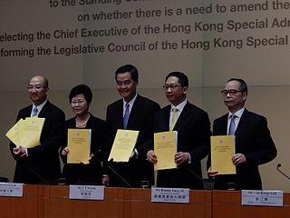 2014–2015 Hong Kong electoral reform Proposed electoral reform