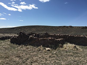 Cold Springs Pony Express Station Ruins - Image: 2015 04 02 14 50 46 Stagecoach station ruins at the Cold Springs Stagecoach Station, Nevada