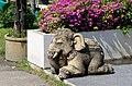 20171105 Wat Phra Sing, Chiang Mai elephant statue 9878 DxO.jpg