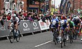 2017 Tour of Britain (4) bunch sprint in Newark (2).JPG