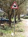 2018-02-22 Cattle warning sign, Várzea de Quarteira, Albufeira.JPG