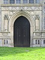 2018-04-23 west doorway, parish church of Saint James, Southrepps, Cromer.JPG