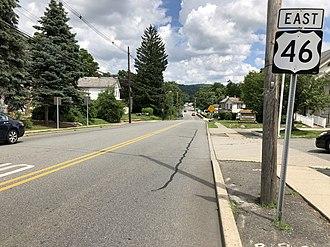 Hackettstown, New Jersey - View east along US 46 in Hackettstown