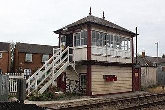 Oakham railway station - The signal box