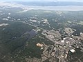 2019-07-22 15 52 53 View east across Garrisonville and Aquia Harbour towards Smith Lake and the Potomac River in eastern Stafford County, Virginia from an airplane heading for Washington Dulles International Airport.jpg
