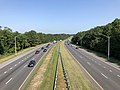 2019-07-25 09 46 36 View north along Interstate 97 (Patuxent Freeway) from the overpass for Waterbury Road in Waterbury, Anne Arundel County, Maryland.jpg