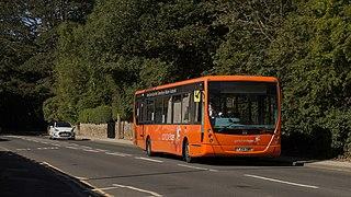 Yorkshire Tiger British bus company in Elland, West Yorkshire