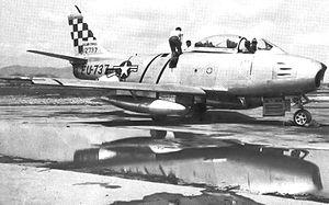 25th Fighter Squadron - North American F-86E-10-NA Sabre 51-2737 K-12 (Mangun AB), South Korea, 1952