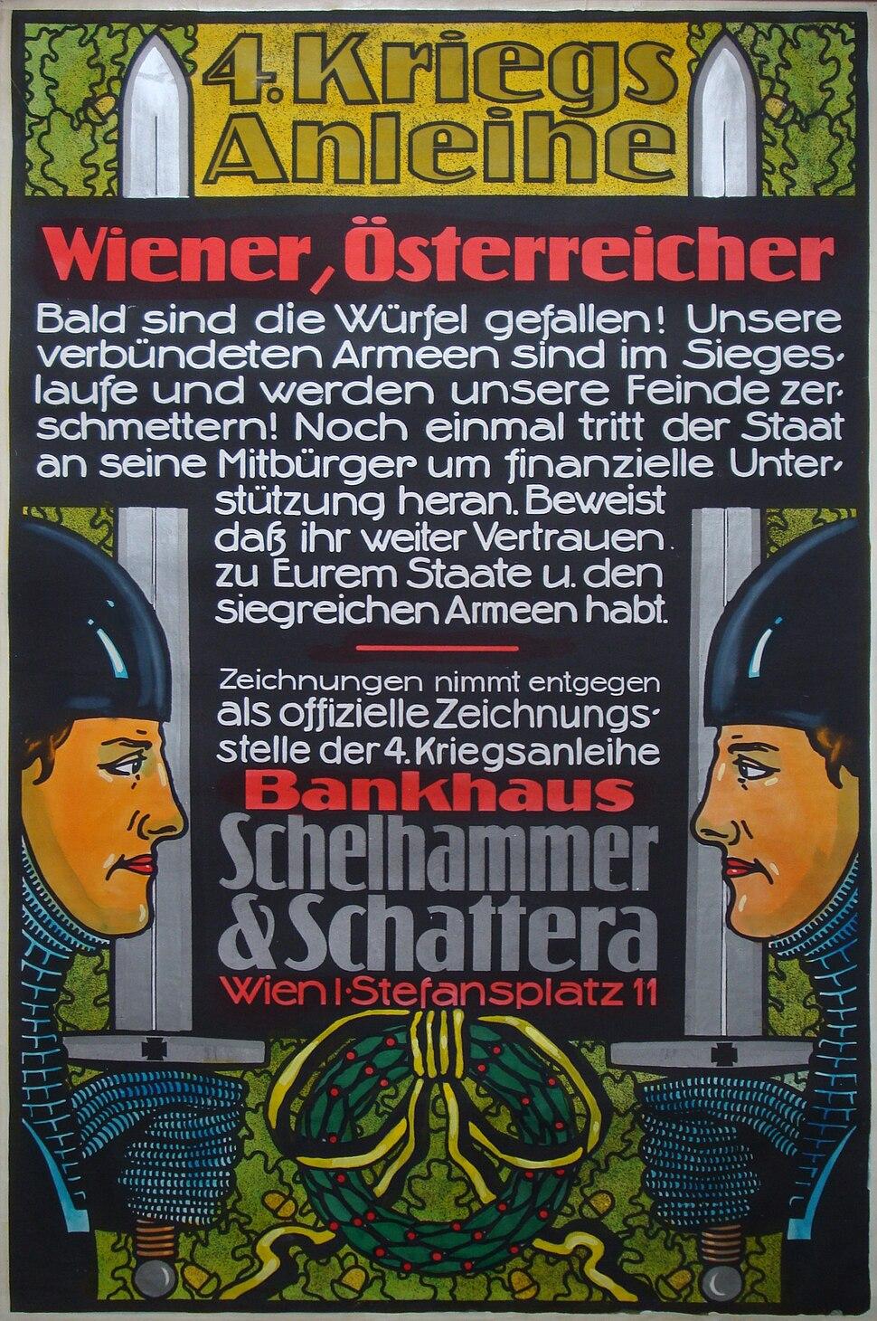 3-2 Sammlung Eybl (Slg.Nr. 2268) Plakat 4. Kriegsanleihe 1916