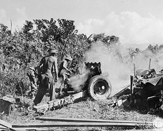 QF 3.7-inch mountain howitzer - In action in Burma, 3 November 1944