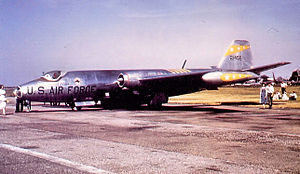 30th Reconnaissance Squadron - 30th TRS Martin RB-57A 52-1456 in day markings
