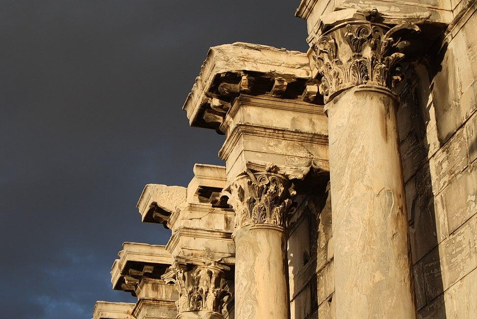 3694 - Athens - Library of Hadrian - Facade - Photo by Giovanni Dall'Orto, Nov 9 2009