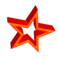 3D red star.png