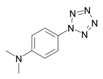 4-Dimethylaminophenylpentazole - Image: 4 dimethylaminophenylp entazole