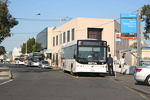 Bus Safety Act - The route 401 prepaid shuttle from North Melbourne railway station to the University of Melbourne.