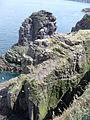 4105.Blick auf den Vogelfelsen La Fauconniere-Das Cap Frehel ist ein Vogelschutzgebiet das viele Brutvogelarten beherbergt.JPG