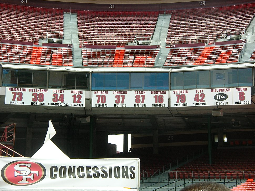 49ers retired numbers at Candlestick Park 2009-06-13