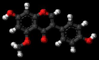 5-O-Methylgenistein - Image: 5 O Methylgenistein 3D balls