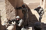 503rd Infantry Rgt. prepare to engage enemy in Chaki Wardak District 2010-09-25