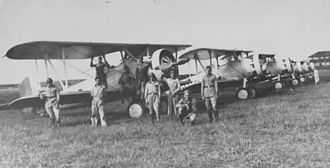 Brazilian Air Force - 5th Aviation Regiment in Curitiba, Paraná, Brazil in 1932.