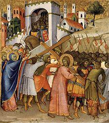 Simon of cyrene crucified
