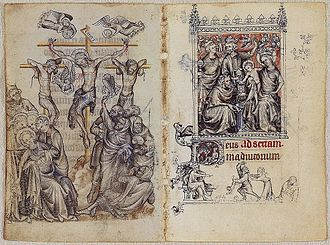 Hours of Jeanne d'Evreux - Crucifixion of Jesus and Adoration of the Magi