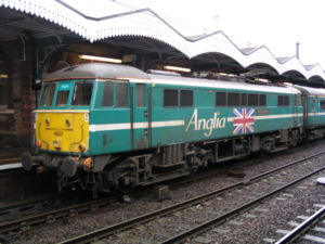 Anglia Railways - Image: 86227 'Golden Jubilee' at Ipswich
