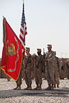 8th Engineer Support Battalion cases colors in Afghanistan, heads home to prepare for next mission 120815-M-UP355-001.jpg