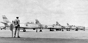 93d Fighter-Interceptor Squadron - 93d Fighter-Interceptor Squadron - North American F-86Fs at Kirtland AFB in 1950