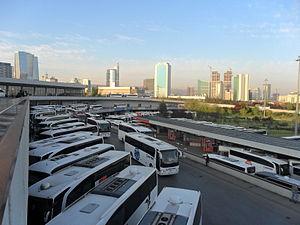 Yenimahalle, Ankara - Skyline of Söğütözü business district, as seen from the Intercity Bus Terminal (AŞTİ) in Yenimahalle.