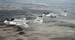 A-6E Intruders VA-95 in flight 1981