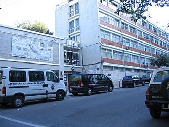 Coimbra Academic Association - AAC main building, to the right, has the offices of dozens of sports departments and cultural organizations.