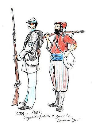 Louisiana Tigers - Infantry Sgt and Tiger Zouave