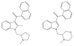 AM-1220 - Related 1-(N-methylpyrrolidin-2-ylmethyl) and 1-(N-methylmorpholin-3-ylmethyl) derivatives