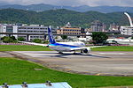 ANA Boeing 787-8 JA832A Departing from Taipei Songshan Airport 20150908e.jpg