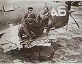 A Brazilian fighter plane damaged by German flak WWII.jpg