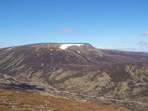 A' Mharconaich - A' Mharconaich from the south, the track up Coire Dhomhain is clearly in view.