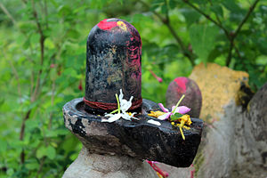 Lingam - A Shiva Lingam near the Radhe Krishna Temple in Rajbira