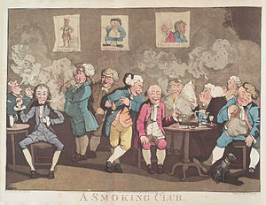 "Frederick William Fairholt - ""A Smoking Club"" - one of Fairholt's illustrations in Tobacco, its History and Association"
