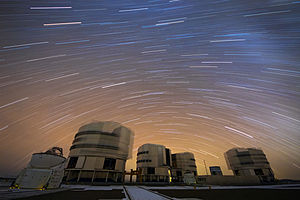 Photograph - Image: A Stream of Stars over Paranal
