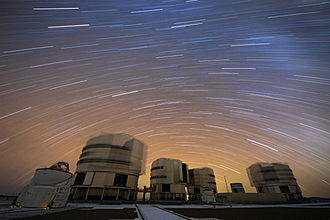 Photograph - Long-exposure photograph of the Very Large Telescope