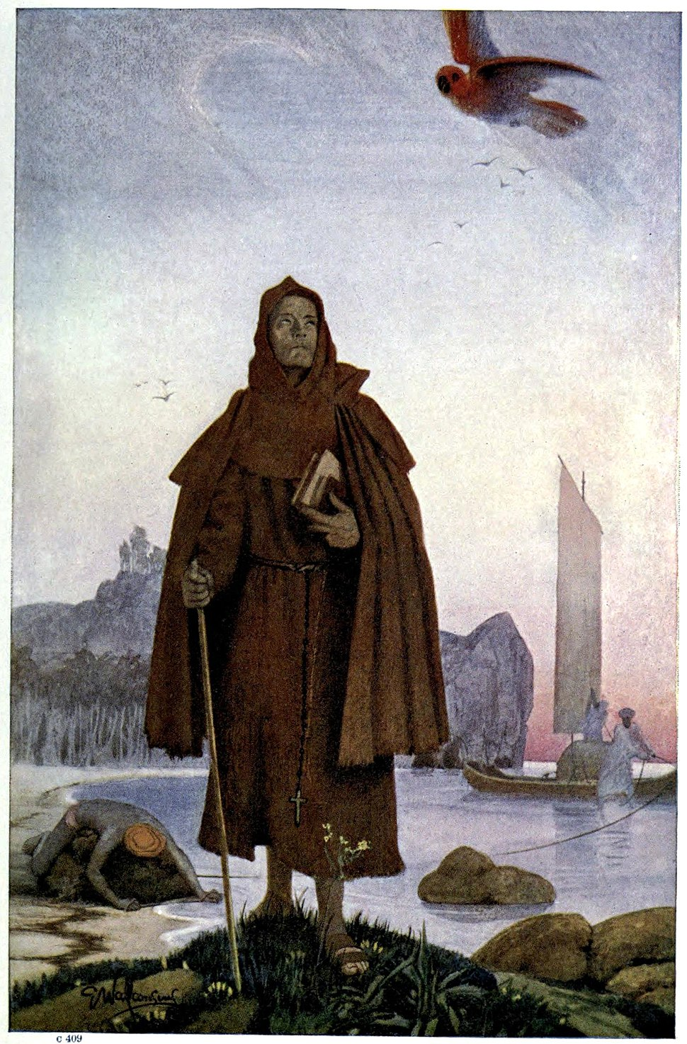 A christian missionary Friar landing in southrn India (14th cCentury)