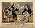 A doctor and footman hurling pudding at each other in an att Wellcome V0010955.jpg