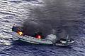 A fire burns aboard the Taiwanese fishing vessel Shin Maan Chun in the Pacific Ocean 120421-N-ZZ999-004.jpg