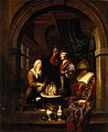 A physician examining a urine-flask. Oil painting by Gerard Wellcome V0017296.jpg
