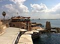 A port in Old Acre and Crusader ruins.jpg