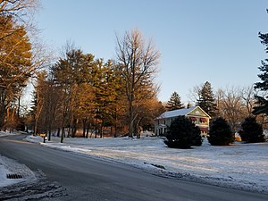 Residential area in Spackenkill, December 2019