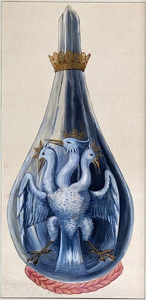 File:A three-headed eagle in a crowned alchemical flask, represen Wellcome V0025636.jpg