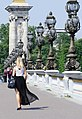 A woman on the Pont Alexandre-III, 23 May 2012.jpg